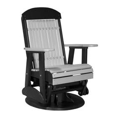 LuxCraft's Classic Highback Swivel Glider Chair provides an ultra-smooth glide and swivel. Order this sturdy Poly Lumber glider chair from Rocking Furniture. Porch Glider, Swivel Glider Chair, Furniture Gliders, Amish House, Stainless Steel Fasteners, Outdoor Chairs, Outdoor Furniture, Amish Furniture, Garden Chairs