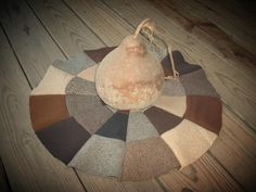primitive folk art wool decor | ... Primitive Folk Art: Fall primitive pumpkins and wool tree skirt