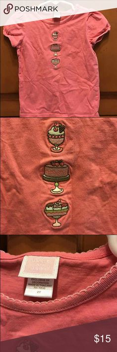 Janie and Jack Soda fountain 2t pink shirt This very hard to find shirt is in excellent used condition from a smoke and pet free home. Janie and Jack Shirts & Tops Blouses