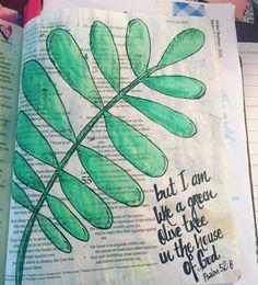Psalm 52:8. #illustratedfaith #biblejournalingcommunity #biblejournalinglife #bibleart #illustratedfaithdaily2016 http://ift.tt/1KAavV3