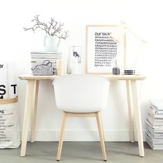 Scandi home office Small Home Offices, Home Office Space, Home Office Decor, Office Desk, Ikea Inspiration, Interior Inspiration, Ikea Desk, Decorating Your Home, Room Decor