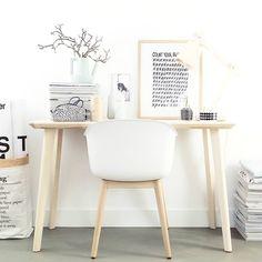 #Muuto fiberchair & #Ikea Lisabo desk.