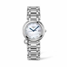LONGINES ρολόγια ΤΣΑΛΔΑΡΗΣ L81124876 LONGINES PrimaLuna quartz mother-of-pearls & diamonds. Γυναικείο ρολόι LONGINES PrimaLuna με διαμάντια & μπρασελέ  #PrimaLuna #longines #ρολόγια