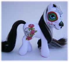 Dia de los Muertos custom pony by ~eponyart on deviantART