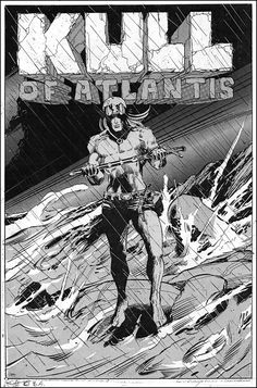 """Kull of Atlantis"" remains as an incomplete and unpublished work by Barry Windsor-Smith. According to the splash page notes in Savage Sword of Conan #3, Barry Smith and Roy Thomas were planning a paperback comic book dealing with the early days of Kull. The paperback never happened, but Smith did a number of finished drawings in preparation for the book. Some of those drawings (8 pages) are also presented in Savage Sword of Conan #3 with Robert E. Howard text…"