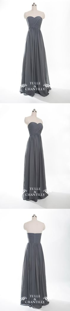 long chiffon charcoal grey bridesmaid dresses 2016
