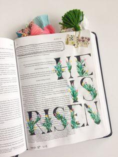 Faith Heirlooms - Bible Journaling - Floral Alphabet - Watercolor