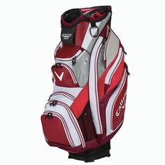 15 Cart Bag Features Full-Length Club Dividers, 3 Integrated Molded Grab Handles, Comfort Tech Single Strap, E-Trolley Base System and 15 pockets. Taylormade, Golf Bags, Cart, Sports, Covered Wagon, Hs Sports, Sport, Strollers