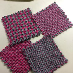 Ravelry: Rogue472's Tina's Coasters Made on my Zoom Loom