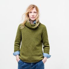 weekend turtleneck sweater pattern by Brooklyn Tweed