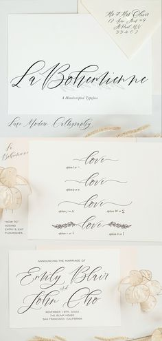Luxuriously beautiful calligraphy font : Wedding Perfect