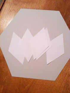 Make your own English Paper Piecing templates (diamonds) - tutorial