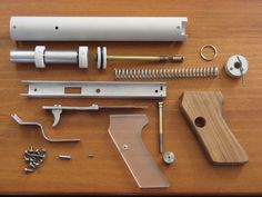 Un juguete. DIY Nerf Gun is Way Cooler than Store-Bought Nerf Weapons Nerf Gun, Rubber Band Gun, Homemade Weapons, Wood Toys, Diy Toys, Cool Diy, Projects For Kids, Gadgets, Cool Stuff