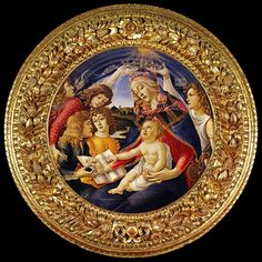 August 15 - Celebration of the Assumption of Mary  Painting: Madonna of the Magnificat, 1481 by Sandro Botticelli  Italian painter of the Early Renaissance  ? 1445 - May 17, 1510