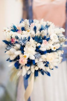 Pantone Color of the Year For Classic Blue Wedding ★ classic blue wedding small bouquet with bohemian flowers lavendercastle. Bridal Flowers, Beautiful Flowers, Blue Wedding, Dream Wedding, Flower Model, Deco Floral, Dried Flowers, Planting Flowers, Flowers Garden