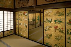 Gorgeous fusuma screens!