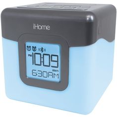IHOME iBT28GC Bluetooth(R) Color-Changing Dual Alarm Clock FM Radio with USB