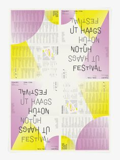 Visual identity / poster / program / flyer - Ut Haags Notûh Festival - by Studio 2 ONS