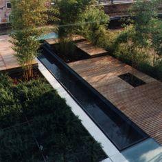 Ippolito Pizzetti, CZstudio associati · Giardini pensili a Venezia Green Architecture, Landscape Architecture, Modern Landscaping, Garden Landscaping, Small Gardens, Outdoor Gardens, Hanging Gardens, Urban Landscape, Landscape Design