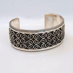 Vintage Heavy Sterling Silver Handmade Cuff