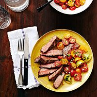 Broiled Top Blade Steak with Herb-Flecked Tomato Salad (Rachael Ray gluten free recipe)