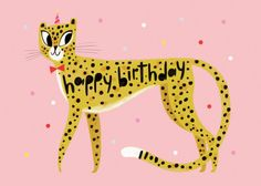 We collaborated with Hip-Hip to bring you this personalised cheetah birthday card. Free Birthday Card, Birthday Cards For Her, Happy Birthday Fun, Happy Birthday Images, Birthday Greetings, Birthday Wishes, Birthday Hug, Birthday Ideas, Birthday Parties
