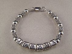 Sterling Silver Bracelet Baby Bracelet Boy by KrisTsCreations, $44.00