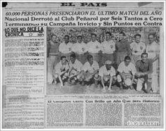 Nacional 6 Peñarol 0 - Mayor goleada clásica del fútbol uruguayo