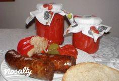 Ajvár télire tartósítószer nélkül | Nosalty Sausage, Healthy Recipes, Healthy Food, Winter, Healthy Foods, Winter Time, Sausages, Healthy Eating Recipes, Healthy Eating
