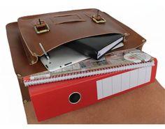 TRIFOGLIO Leder Aktentasche Arbeitstasche Dokumententasche Lehrertasche UNI PB06