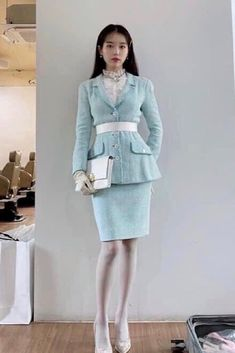 Adrette Outfits, Kpop Fashion Outfits, Preppy Outfits, Korean Outfits, Classy Outfits, Fashion Dresses, Luna Fashion, Asian Fashion, Girl Fashion