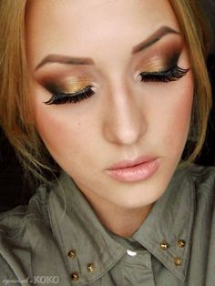 Gold & Copper Eye Makeup