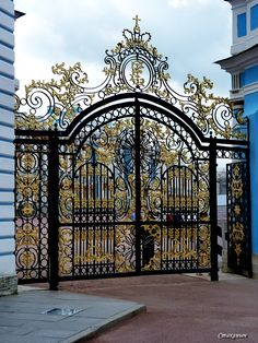 Photo from album Большой Екатерининский дворец on Modern Main Gate Designs, House Main Gates Design, Door Gate Design, House Front Design, Modern Gates, Front Gates, Entrance Gates, Garden Entrance, Grand Entrance