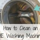 How to Clean Your HE Washing Machine (Remove High Efficiency Washing Machine Odor) - will need this someday!