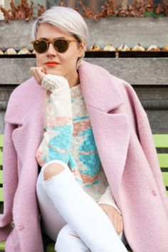 SHOP THE LOOK: pretty pastel  Wearing pastel colours during the winter is unbelievably fun and this pink coat is the perfect way to prove a point !