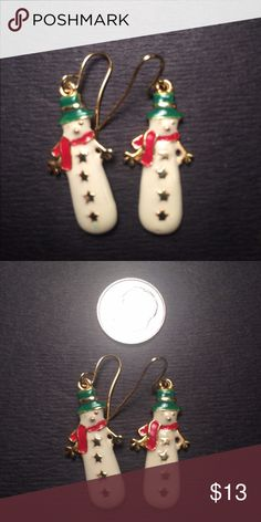 Snowman Earrings In excellent condition Jewelry Earrings