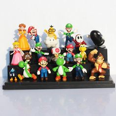 18 pcs Mini Super Mario Bros Lot Action Figure Doll Toy Gifts So Cute -- BuyinCoins.com