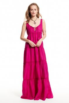 Enjoy 20% off full price dresses with code: DRESS20. Nettie Silk Lace-up Maxi Dress.