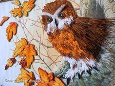 Картина панно рисунок Праздник осени Квиллинг Картина СОВА Бумага фото 2