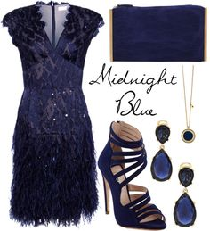 """""""Midnight Blue"""" by missloulouxx on Polyvore"""