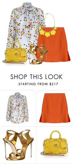 """""""Untitled #4781"""" by stephaniefb ❤ liked on Polyvore featuring Emilio Pucci, Giuseppe Zanotti, Coach, women's clothing, women's fashion, women, female, woman, misses and juniors"""