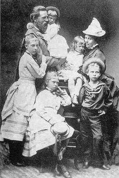 Prince Frederick of Prussia, and Victoria, Princess Royal, with their children.