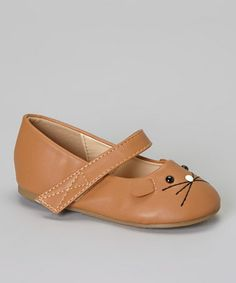 Take a look at this Brown Mause Mary Jane by QQ Girl on #zulily today!