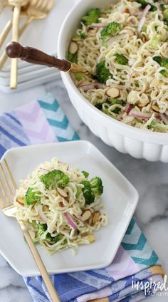 Ramen Noodle Salad - BEST Pasta Salad Recipe | Inspired by Charm BEST OF 2016 RECIPES