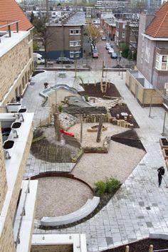 Uitdagend groen schoolplein voor twee Haagse scholen - Donkergroen