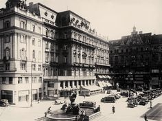 Hotel Krantz, now Ambassador Ambassador Hotel, Contemporary History, Old Photographs, Grand Hotel, Old Pictures, Vienna, The Past, Louvre, Hotels