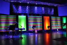 Joey Riggins from Lighthouse Church in Panama City Beach, Florida brings us this stage design for their Christmas theme—