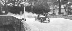 Immagine1914 Tourist Trophy, Isle of Man, the Mountain Circuit Kenelm Lee Guinness, the winner, at the wheel of his Sunbeam 3.3 litre, four cylinders