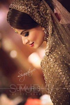 Makeover ❤ pinned by mehjabeen Desi Wedding, Wedding Attire, Wedding Bride, Pakistani Bridal, Indian Bridal, Bridal Outfits, Bridal Dresses, Bridal Poses, Asian Bride