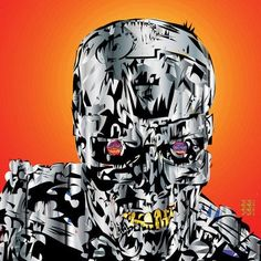 "Mercury Row The Terminator Graphic Art on Wrapped Canvas Size: 26"" H x 26"" W x 1.5"" D"